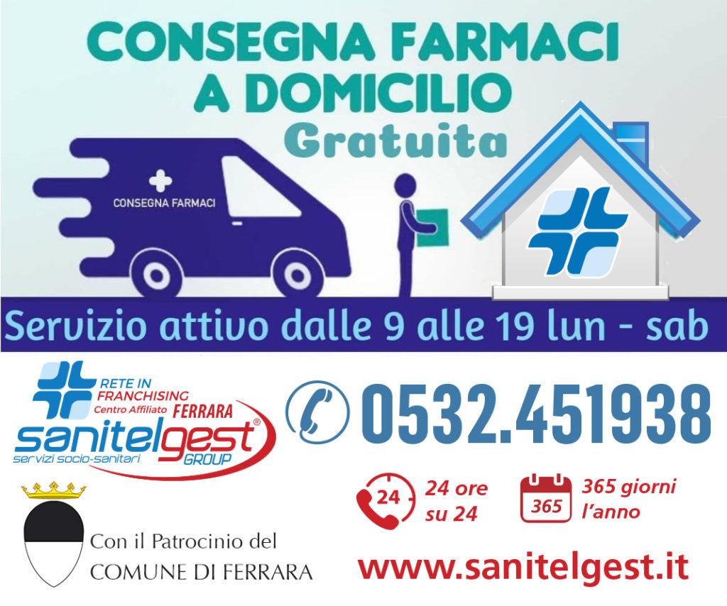 A Ferrara consegna gratuita di farmaci a domicilio